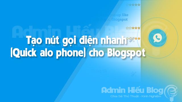 [WORDPRESS] Tạo nút gọi (Call buttom) cho Blogger trong 1 nốt nhạc